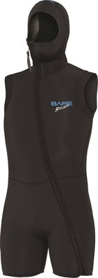 Bare 7 mm step in S-flex Hooded Vest black Man