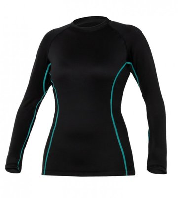 Bare Ultrawarmth Base Layer Top Black/Lava Women
