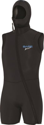 BARE 7 mm sport S-flex Step-In Hooded Vest  black Man